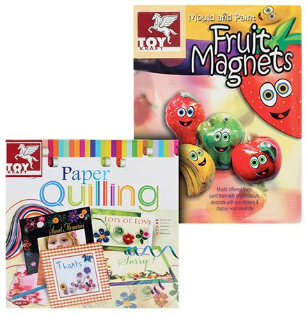 Toy Kraft Combo( Paper Quiling with Mould and Paint Fruit Magnets)