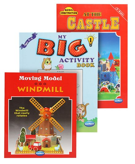Navneet's Model Construction Books(Castle & Windmill) with My Big Activity Book
