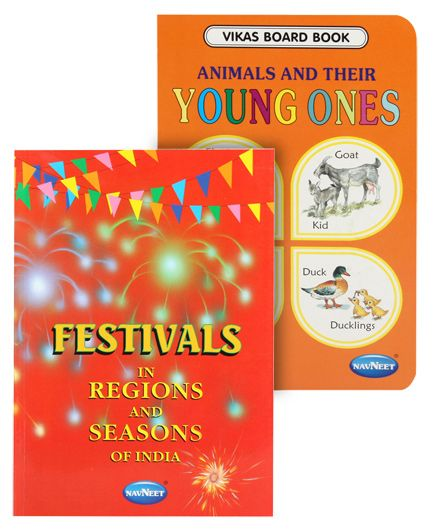 Navneet® Festivals in Regions and Seasons of India & Book of Animals and their young ones