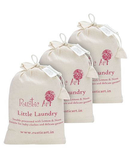 Rustic Art Little Laundry Powder 1 kg . Pack of 3