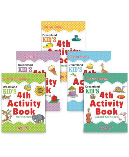 Kid's Activity books Age 6+ set of 5
