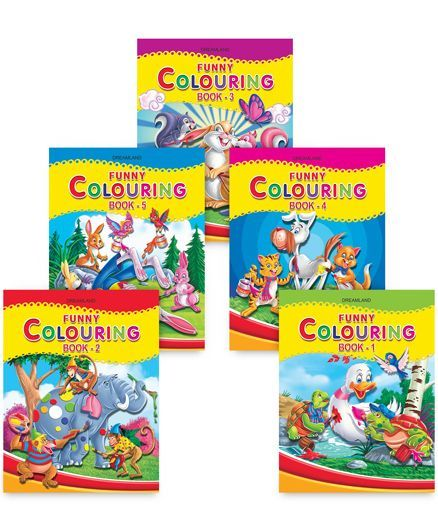 Funny Colouring pack of 5