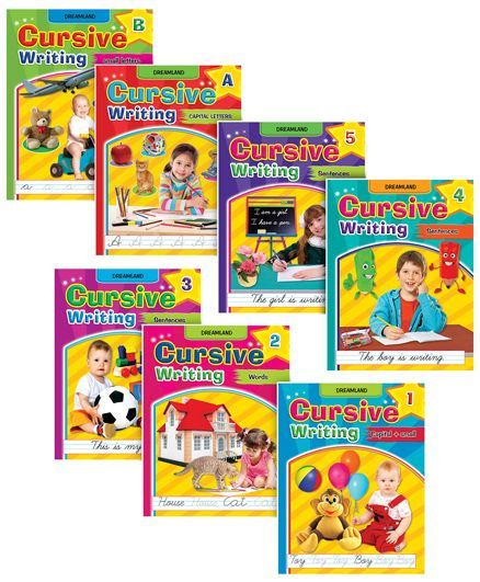 Cursive Writing Books pack of 7