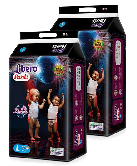 Libero Pant Style Diapers Large - 36 Pieces Pack Of 2