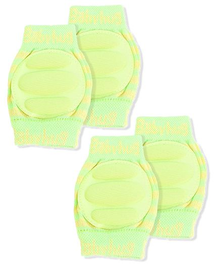 Babyhug Knee Protection Pads - Green & Yellow Pack of 2