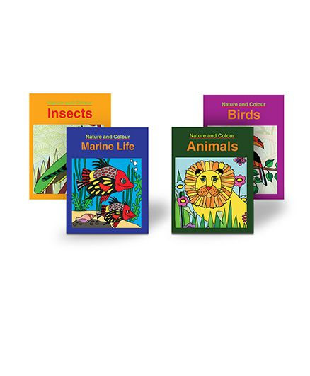 COLORING BOOKS COMBO 4 BOOKS