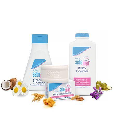 Sebamed - Baby Cleansing Bar and Sebamed - Children's Shampoo and Sebamed Baby Powder - 200 gm