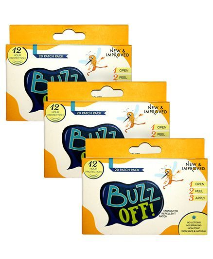 Buzz Off! Mosquito Repellent 20 Patches	- Pack of 3