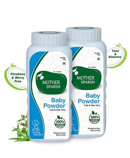 Mother Sparsh Ayurvedic Baby Powder - 100 gm pack of 2
