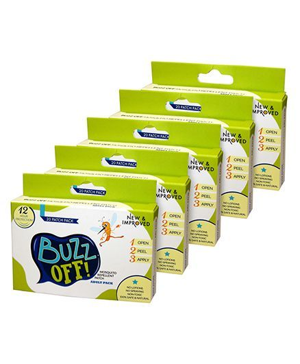 Buzz Off Mosquito Repellent - 20 patches- Pack of 5