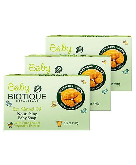 Biotique Bio Almond Oil Nourishing Soap - 100 gm pack of 3