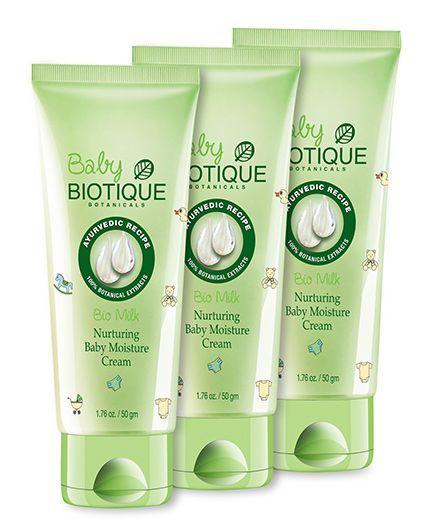 Biotique Bio Milk Nurturing Baby Moisture Cream - 50 gm pack of 3