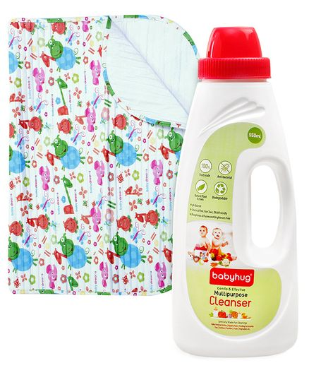 Morisons Baby Dreams Animal Print Baby Mat AND Babyhug Liquid Multi Purpose Cleanser - 550 ml