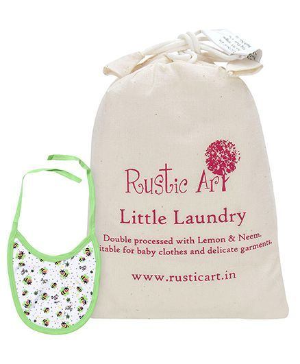 Morison Baby Dreams Bibs Pack of 3 - Green AND Rustic Art Little Laundry Powder - 500 gm