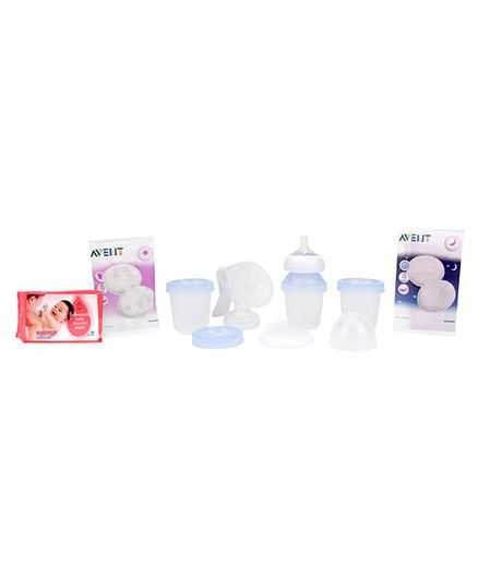 Johnson's baby Skincare Wipes - 80 Pieces AND Avent Manual Breast Pump SCF330-13
