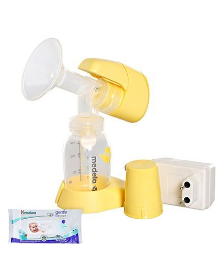 Medela - Mini Electric Breast Pump AND Himalaya Herbal Gentle Baby Wipes 72 Pieces