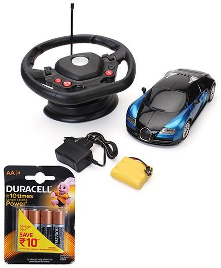 Majorette Gravity Speed Master Remote Control Toy - Blue and Duracell AA Batteries - Pack Of 4