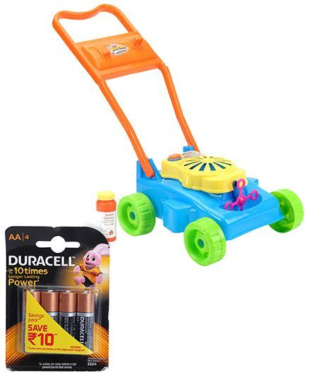 Hamleys Outdoor Bubble Making land mover and Duracell AA Batteries - Pack Of 4