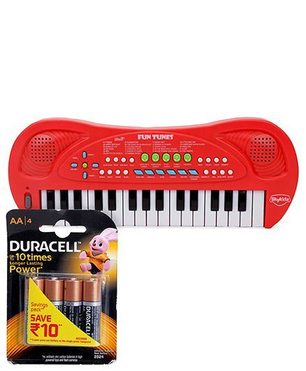 Mitashi Skykidz Fun Tunes - Red and Duracell AA Batteries - Pack Of 4