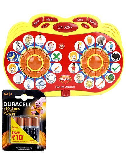 Mitashi Skykidz Match Maker Learning Toy - Red and Duracell AA Batteries - Pack Of 4
