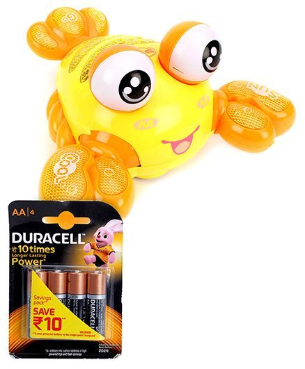Mitashi SkyKidz Aqua Buddies Moster Lobster - Orange and  Duracell AA Batteries - Pack Of 4