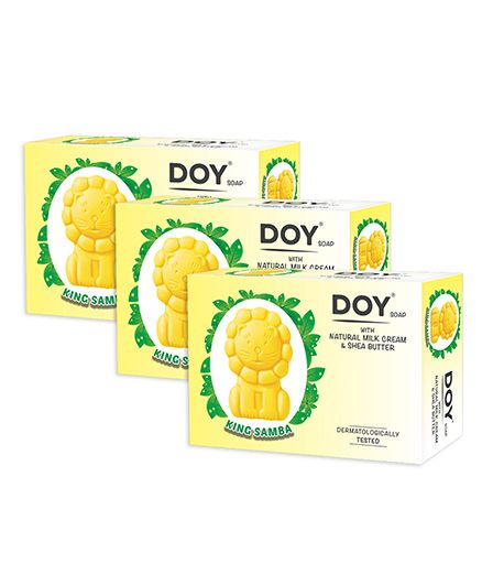 Doy King Samba Soap With Natural Milk Cream And Shea Butter (Pack of 3)