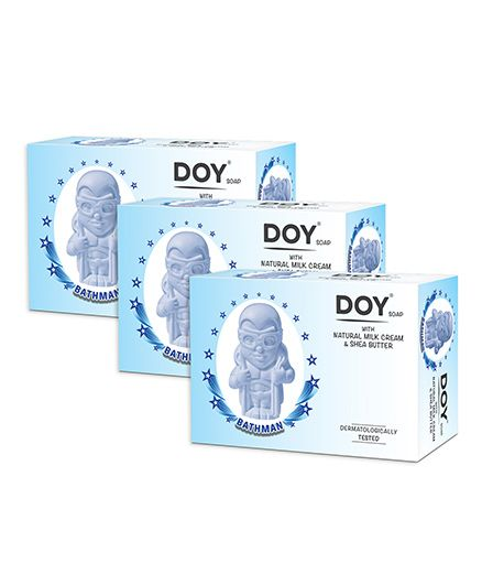 Doy Bathman Soap With Natural Milk Cream And Shea Butter (pack of 3)