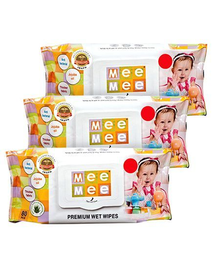 Mee Mee Premium Wet Wipes - 80 Pieces- Pack of 3