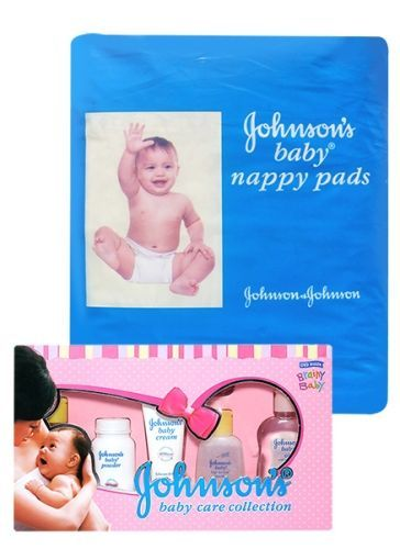 Johnson's baby Deluxe Baby Care Collection - Set Of 7 AND Johnson's baby Nappy Pads - 20 Pads (Pack of 2)