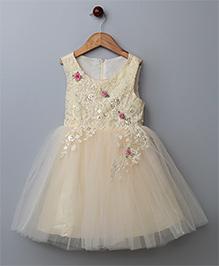 WhiteHenz ClothingSequins Sleeveless Dress - Beige