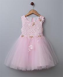 WhiteHenz ClothingBeads Sequins Sleeveless Dress - Pink