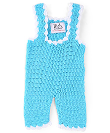 Rich Handknits Sleeveless Knitted Dungaree - Sky Blue