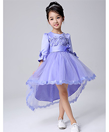 Funky Baby High Low Hemline Princess Frock - Lavender