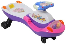 Fab N Funky Swing Car - Pink N White