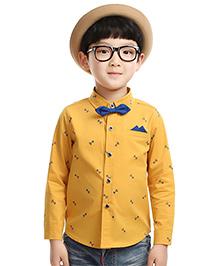 Cherubbaby Shirt With Bow - Yellow