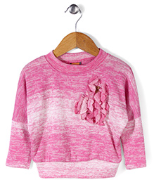 Little Kangaroos Full Sleeves Sweater Top - Light Pink