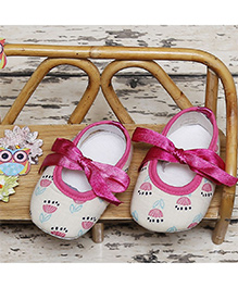 D'chica Pretty Flower Booties - Pink