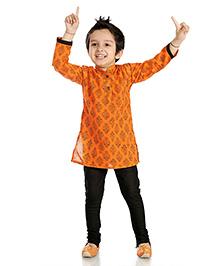 Little Pockets store Kurta Churidar Set - Orange