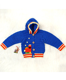 The Original Knit Hooded Sweater - Blue