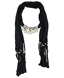 Home Union Fashionable Pendant  Jewellery Scarf - Black