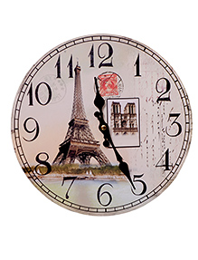 Home Union Designer Vintage Wall Clock - Cream And Brown