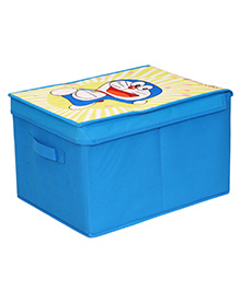 Doraemon Big Storage Box With Lid - Blue