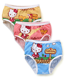 Hello Kitty Printed Panties Set of 3 - Multi Color