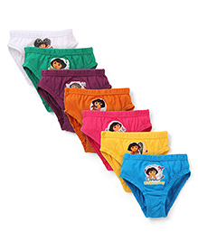 Dora Printed Panties Set of 6 Plus 1 Free - Multi Color