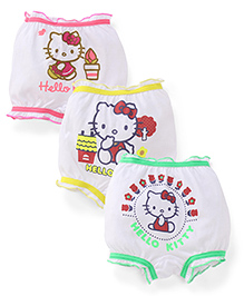Hello Kitty Printed Bloomer Set of 3 - White And Multi Color