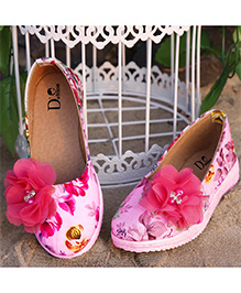 D'chica Printed Chic Ballernias For Her - Multicolor