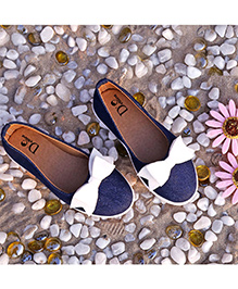 D'chica Denim Ballerina Casual Shoes - Blue