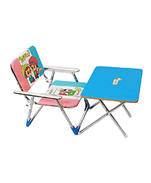 Sohum Folding Chair And Table Set - Blue - 1003922