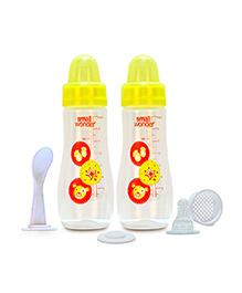 Small Wonder Feeding Bottle Yellow Pack Of 2 - 250 Ml