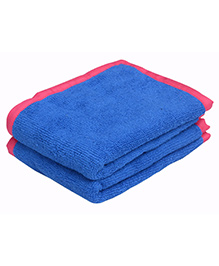 Mumma's Touch Organic Baby Wash Towel Pack of 2 - Royal Blue